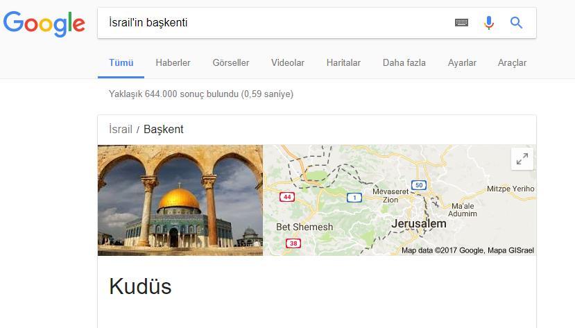 google kudüs baskent
